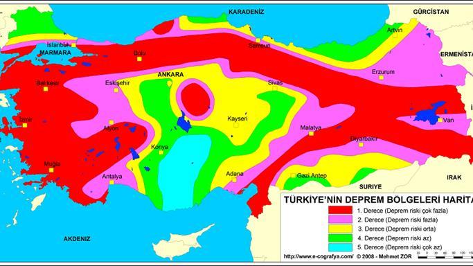 2017 Türkiye Deprem Haritası!