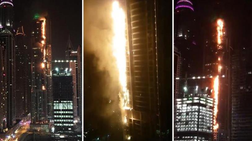 Dünyaca Ünlü Gökdelende Yangın Çıktı