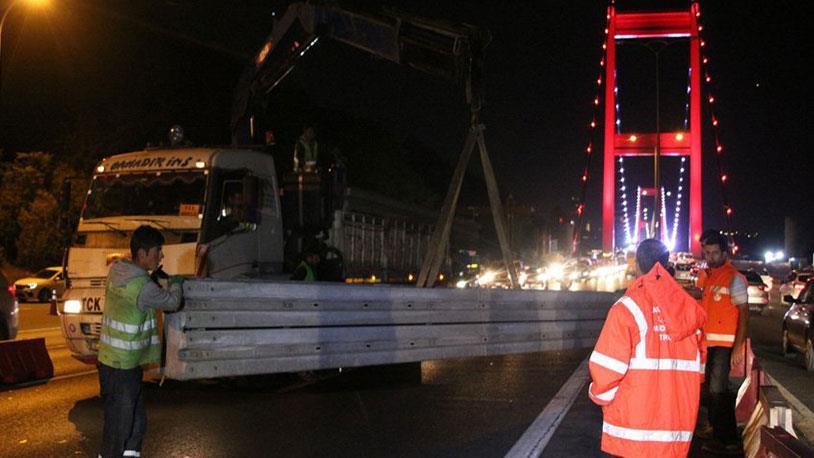 FSM Köprüsü'nde Geçici Bariyerler Konulmaya Başlandı!