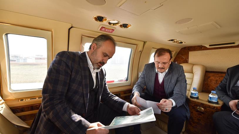 Bursa'daki Projeler Havadan Gözlemlendi
