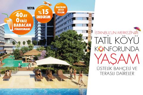 İstanbul'un Merkezinde Tatil Köyü Konforunda Yaşam
