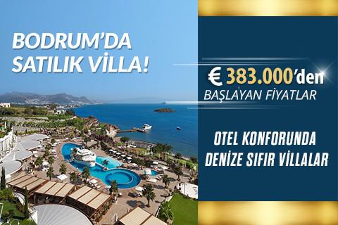 Otel Konforunda Denize Sıfır Satılık Villa !