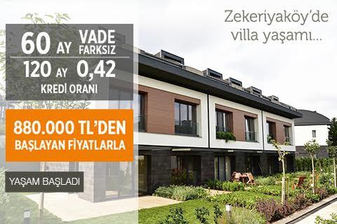 Zekeriyaköy'de villa yaşamı...